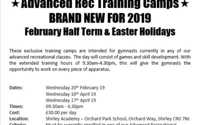 Advanced Rec Holiday Training Camps