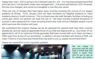 2020 Newsletter.  Page 1/2
