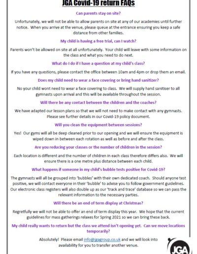 COVID 19 FAQs